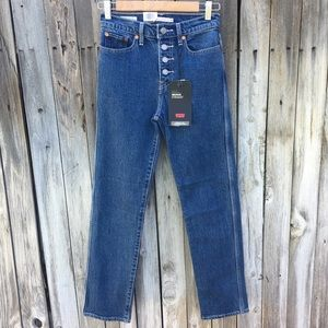 NWT Levi's Wedgie Fit Straight Utility Jean Blue